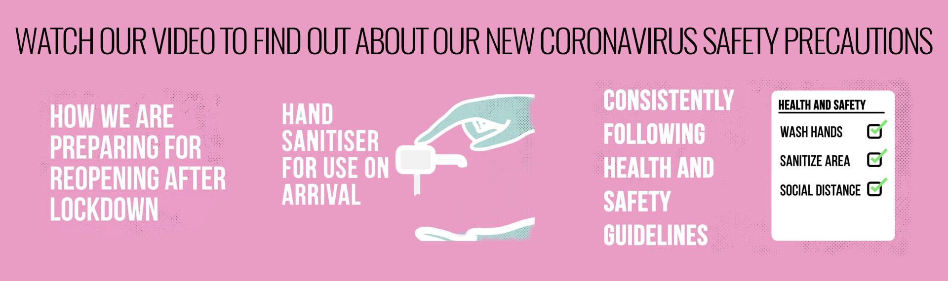 Coronavirus safety precautions as Sara Victoria Brows & Beauty Salon Calne